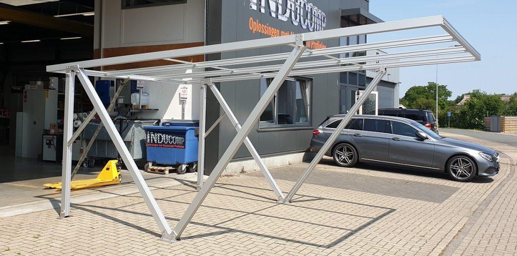 Carport zonnepanelen aluminium profielen - Inducomp BV - Alucomp